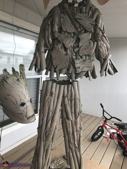 Hung up costume during paint, Guardians of the Galaxy Groot Costume