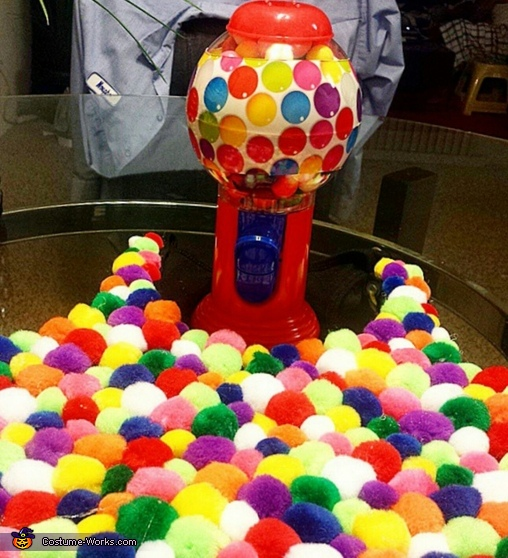 Dollar Tree Gum Ball Machine, Gum Ball Machine Costume