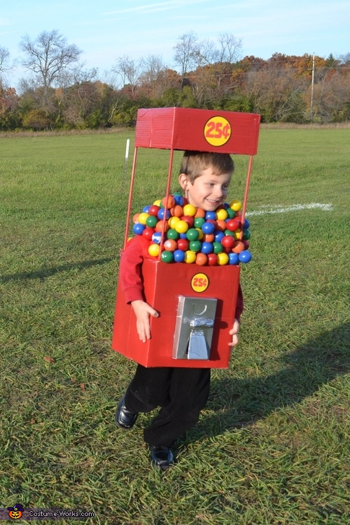 DIY Gumball Machine Costume for Kids