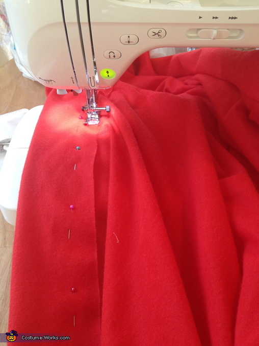 Sewing the Skirt, Gumball Machine Costume