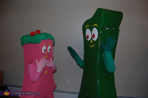 Chatting about candy, Gumby and Minga Costume