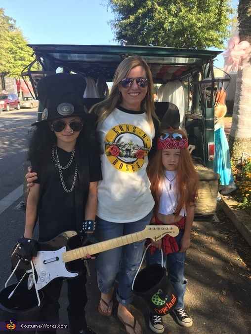 With their groupie (mom), Guns N Roses Costumes