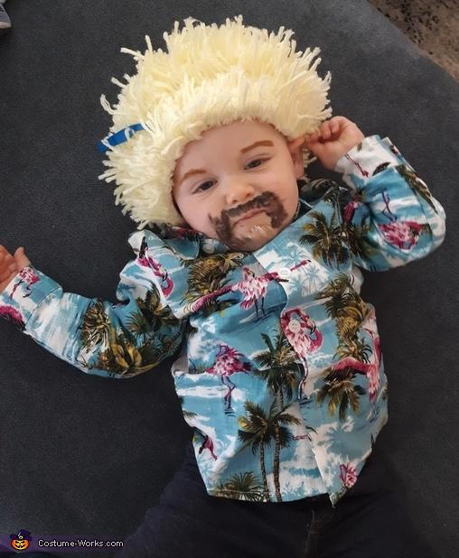 Baby Guy Fieri posing, Guy Fieri Family Costume