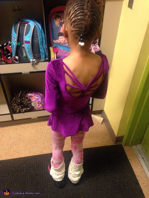 Design in the back , Gymnast Costume
