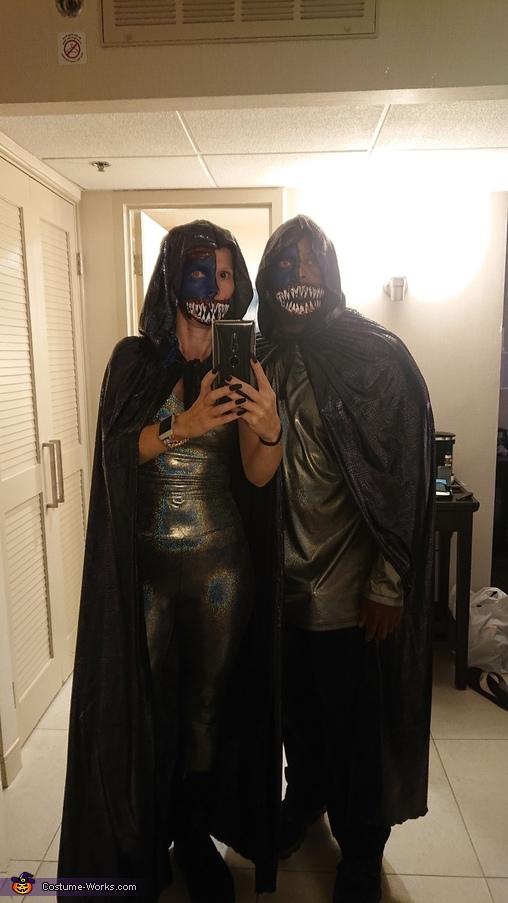 Half-faced Aliens Homemade Costume