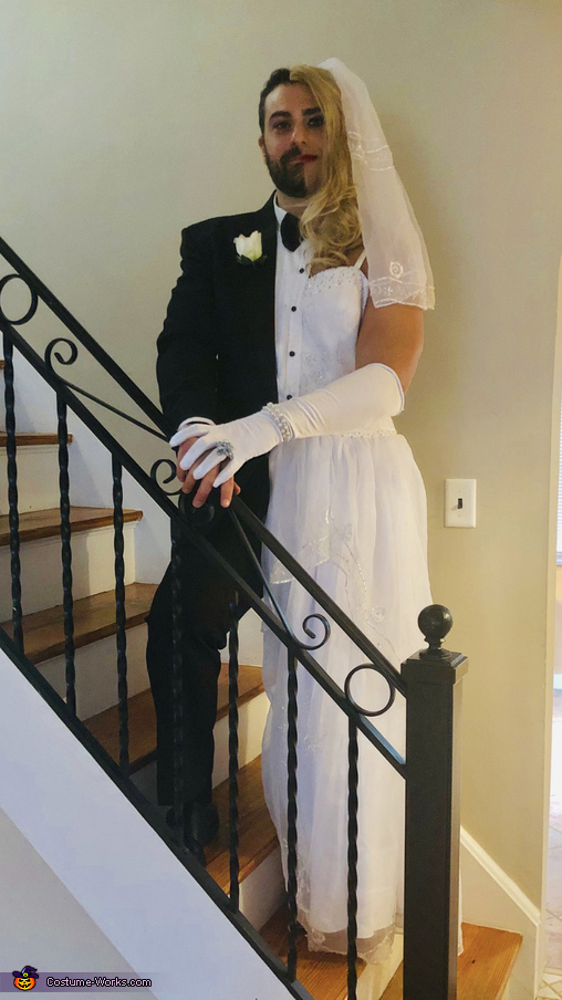 Half Bride and half Groom Homemade Costume