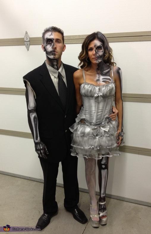 Half Dead Bride And Groom Costume
