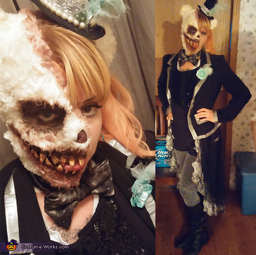 & Half Evil Teddy Bear Half Dark Ringmaster Costume