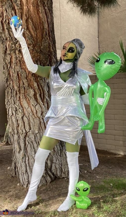 Half Human Half Alien Homemade Costume