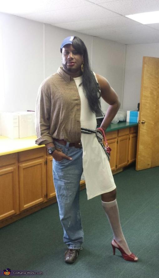 Half Man half Woman Costume