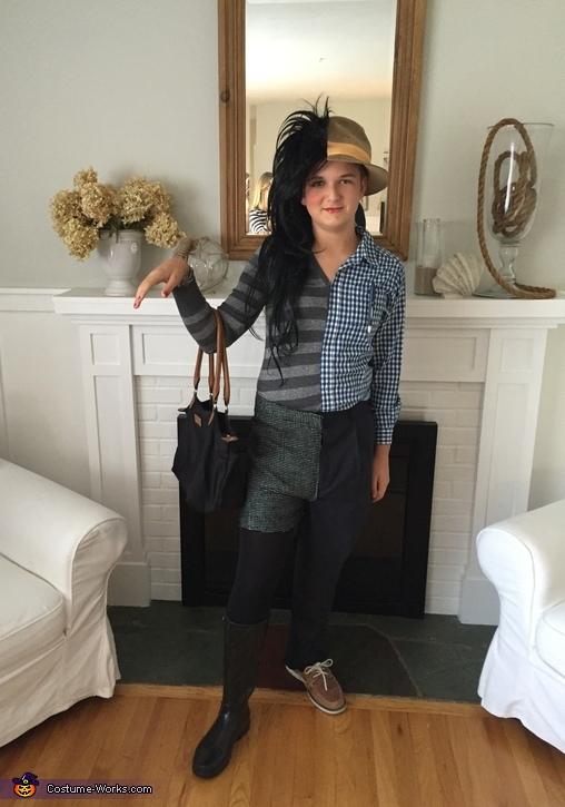 Half Man half Woman Costume Idea