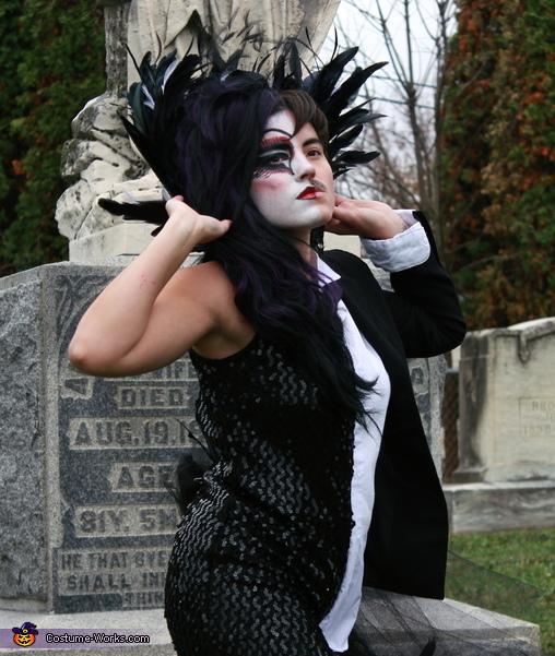 Raven side, Half Raven, Half Edgar Allan Poe Costume