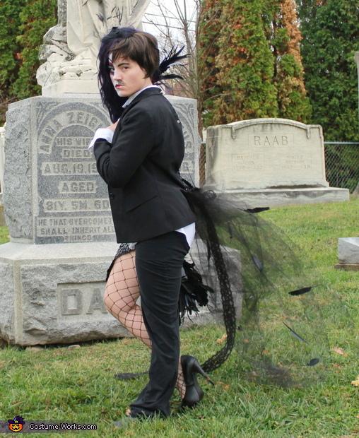 Edgar Allan Poe side, Half Raven, Half Edgar Allan Poe Costume