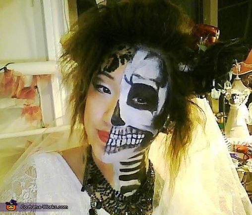 Half Skeleton Bride Costume