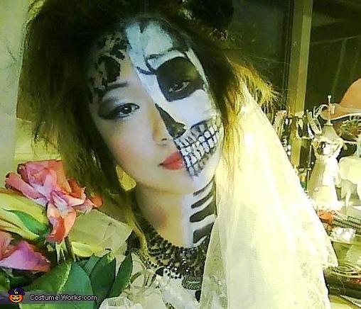 Half Skeleton Bride Costume