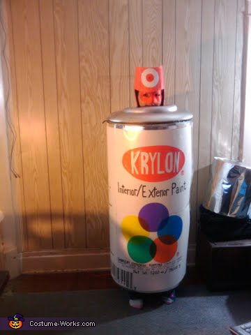 Spray paint can homemade halloween costume for How does spray paint work