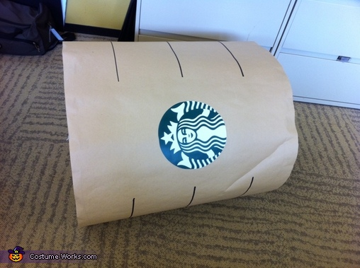 Front of Costume,  Coffee Costume