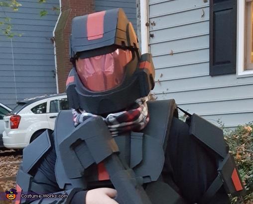 Helmet with Mirrored visor, Halo ODST Costume