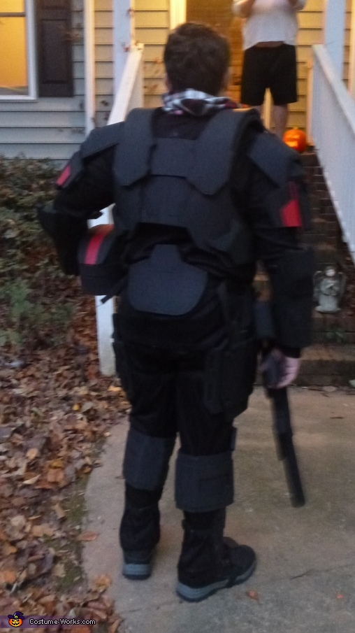 Back of the costume, Halo ODST Costume