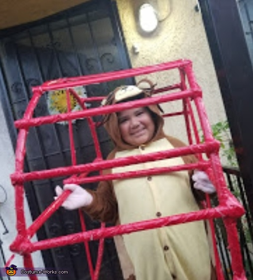Hamster in his wheel Homemade Costume
