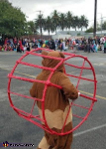 Hamster in his wheel Homemade Costume