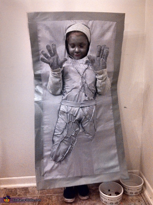 Han Solo in Carbonite - Homemade costumes for boys