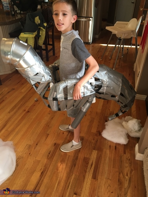 Beginning construction, Han Solo Riding a Tauntaun Costume