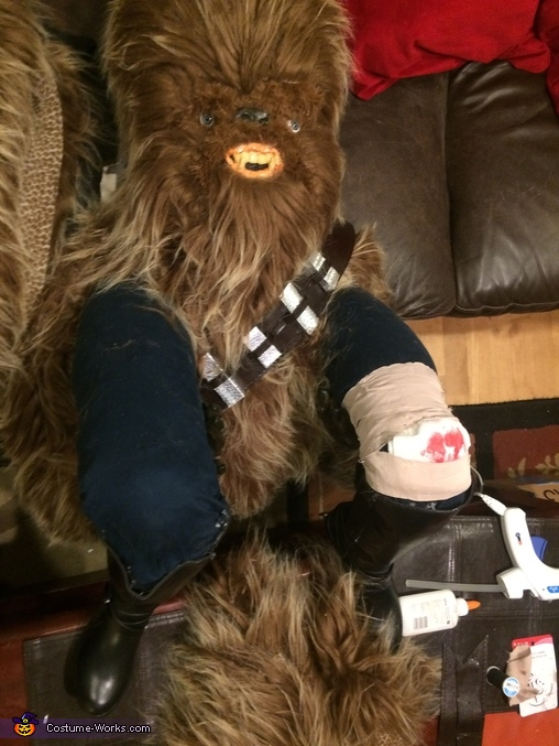 Taking on a life of his own, Han Solo Riding Chewbacca Costume