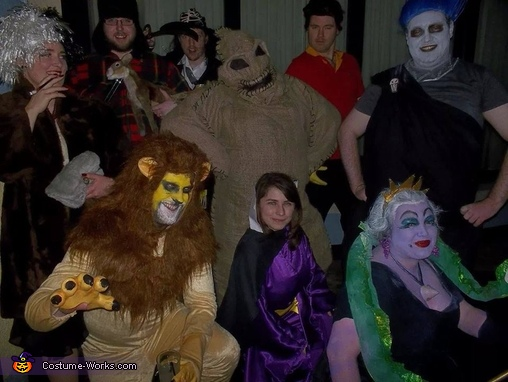 Our motley crew of Disney Villains, Handmade Oogie Boogie Costume