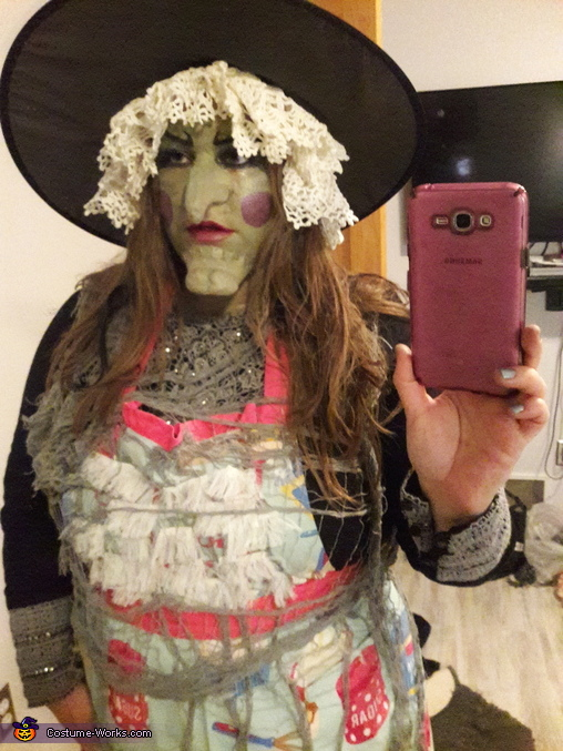 First photo after transformation., Wicked Witch from Hansel and Gretel Disney characters Costume