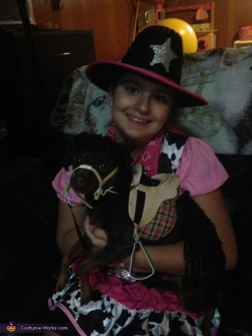 Happy Cow Girl and her Mini Pony Costume