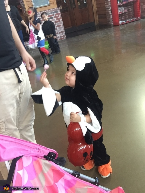 Sharing her candy!, Happy Feet Costume