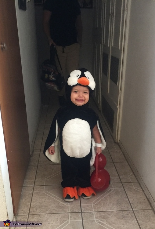 Ready for trick or treating!, Happy Feet Costume