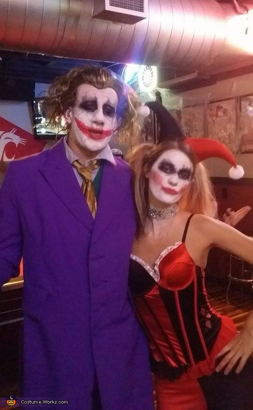 Mad Love Harley and Joker Couples Costume