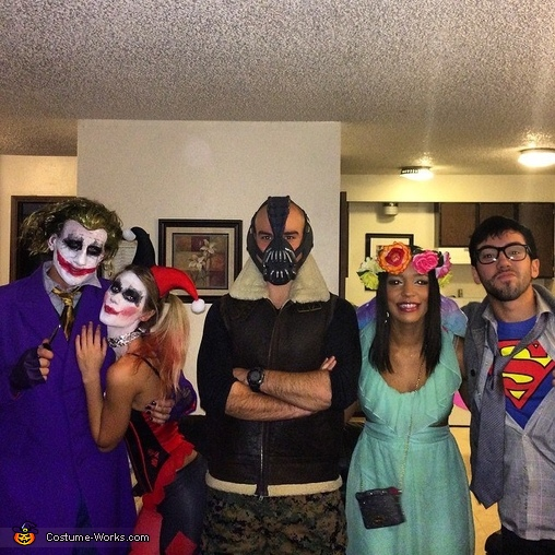 Group picture with our party! , Mad Love Harley and Joker Couples Costume