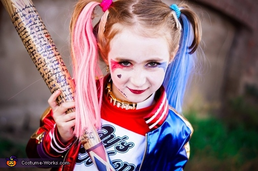Suicide Squad Harley Quinn Girl's Costume