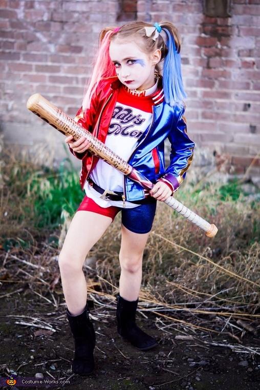 Harley Quinn Girl's Costume