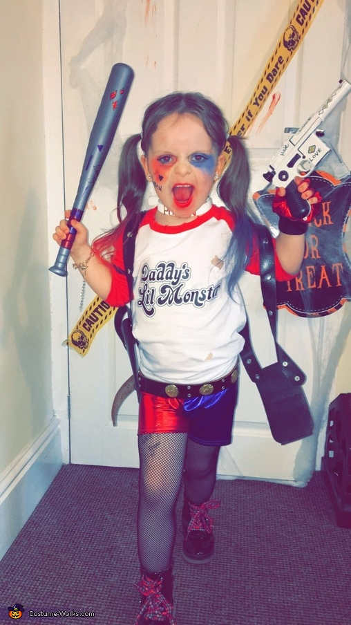 suicide squad harley quinn costume for girl