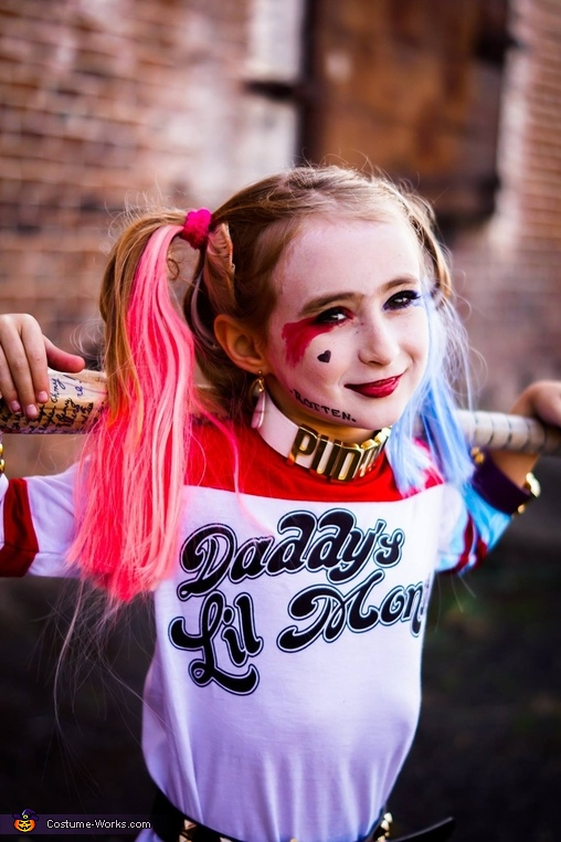1, Harley Quinn Girl's Costume