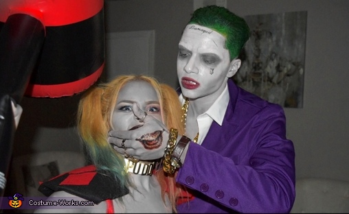Couples Harley Quinn and Joker Costume