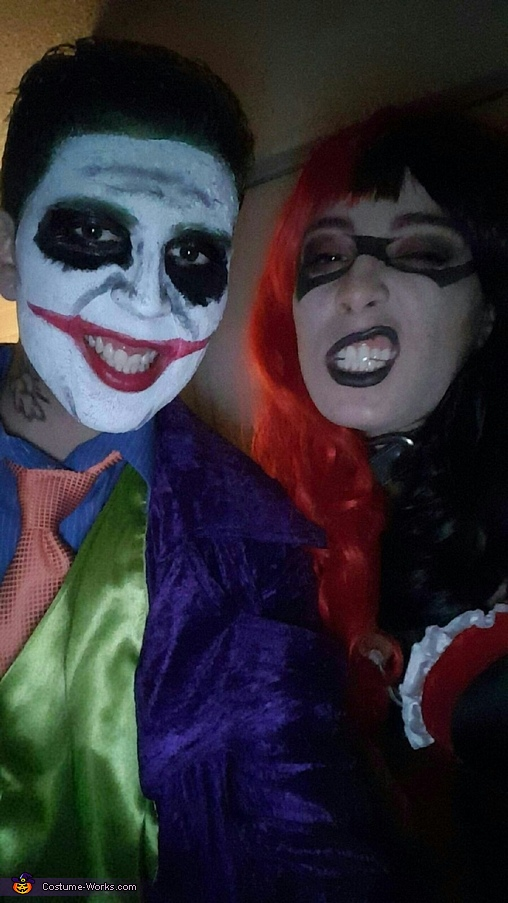 Harley and Mr. J, Harley Quinn and Joker Couple Costume
