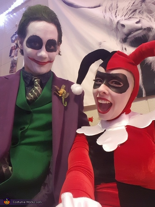 Harley Quinn and The Joker Homemade Costume