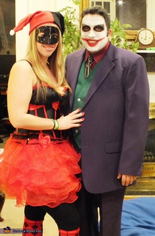 Harley Quinn & Joker from Batman Costume