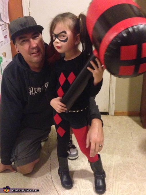 Harley Quinn Toddler Girl Homemade Costume