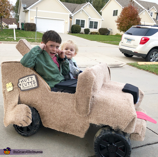 Hey.  Wanna hear the most annoying sound in the world?, Harry and Lloyd Costume