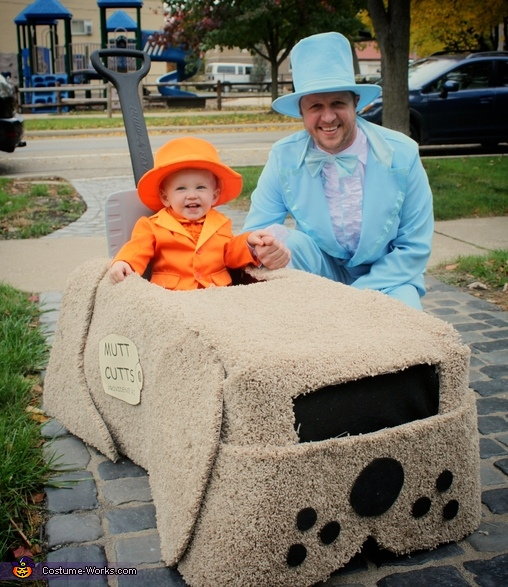 Harry, Lloyd & the Dog Mobile Costume
