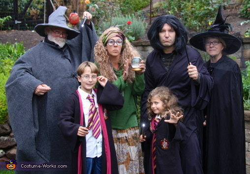 Harry Potter and Crew Family Costume