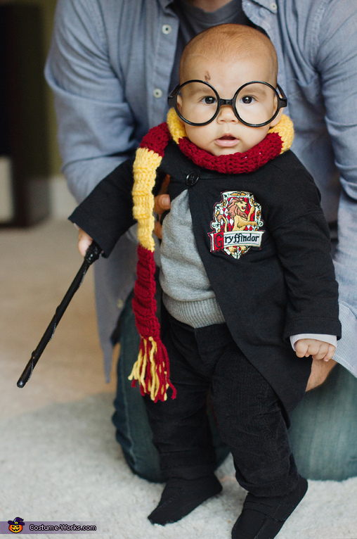 Henry Potter practices his spells., Harry Potter Baby Costume
