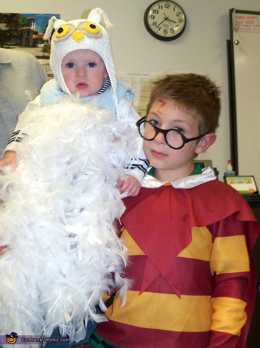 Harry Potter & Hedwig - Homemade costumes for kids
