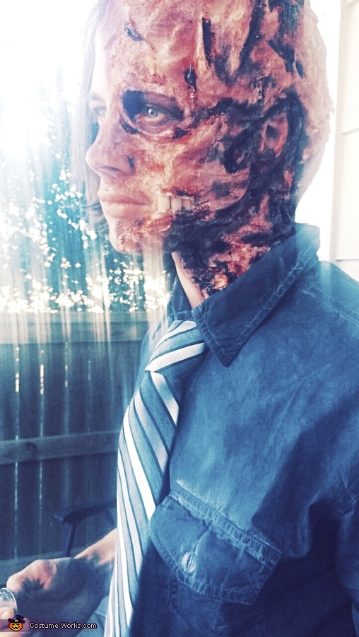 Side view, Harvey Dent Two-Face Costume